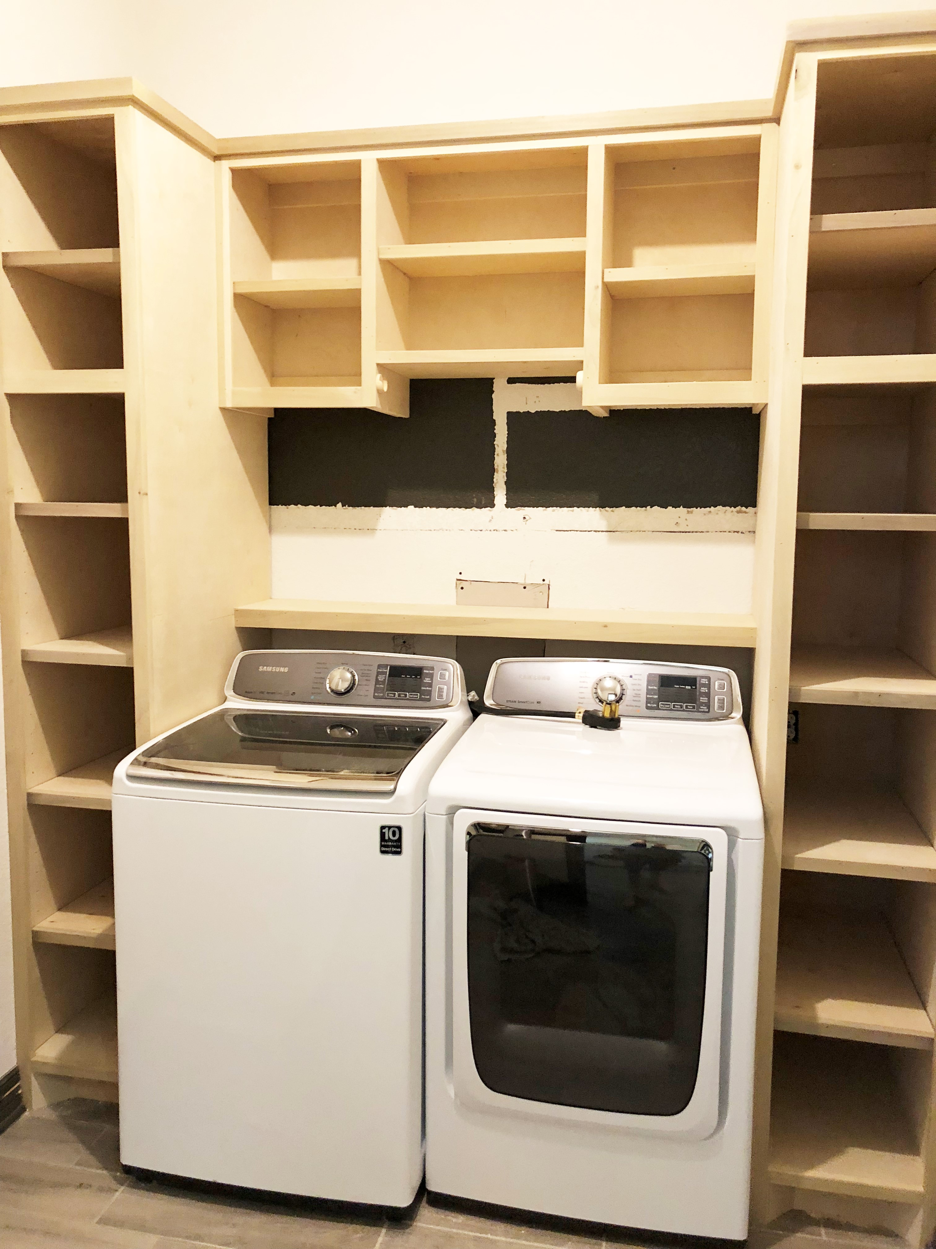 How To Design Built-In Cabinets For A Top Load Washer - Melissa