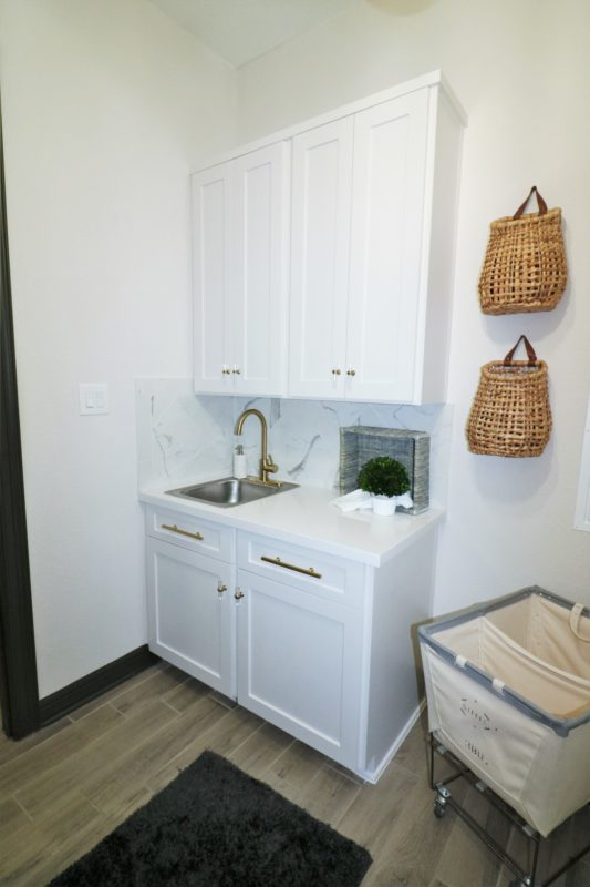 Laundry Room Makeover Built In Top Loader Washer And Dryer Melissa Roberts Interior