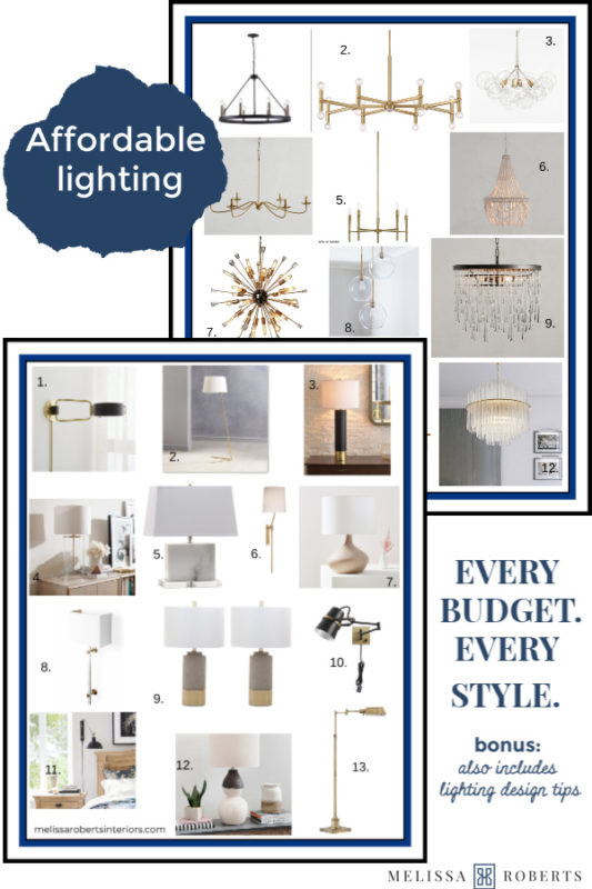 Friday Favorites Affordable Lighting For Every Design Style Melissa Roberts Interior Design Home Decor Blog