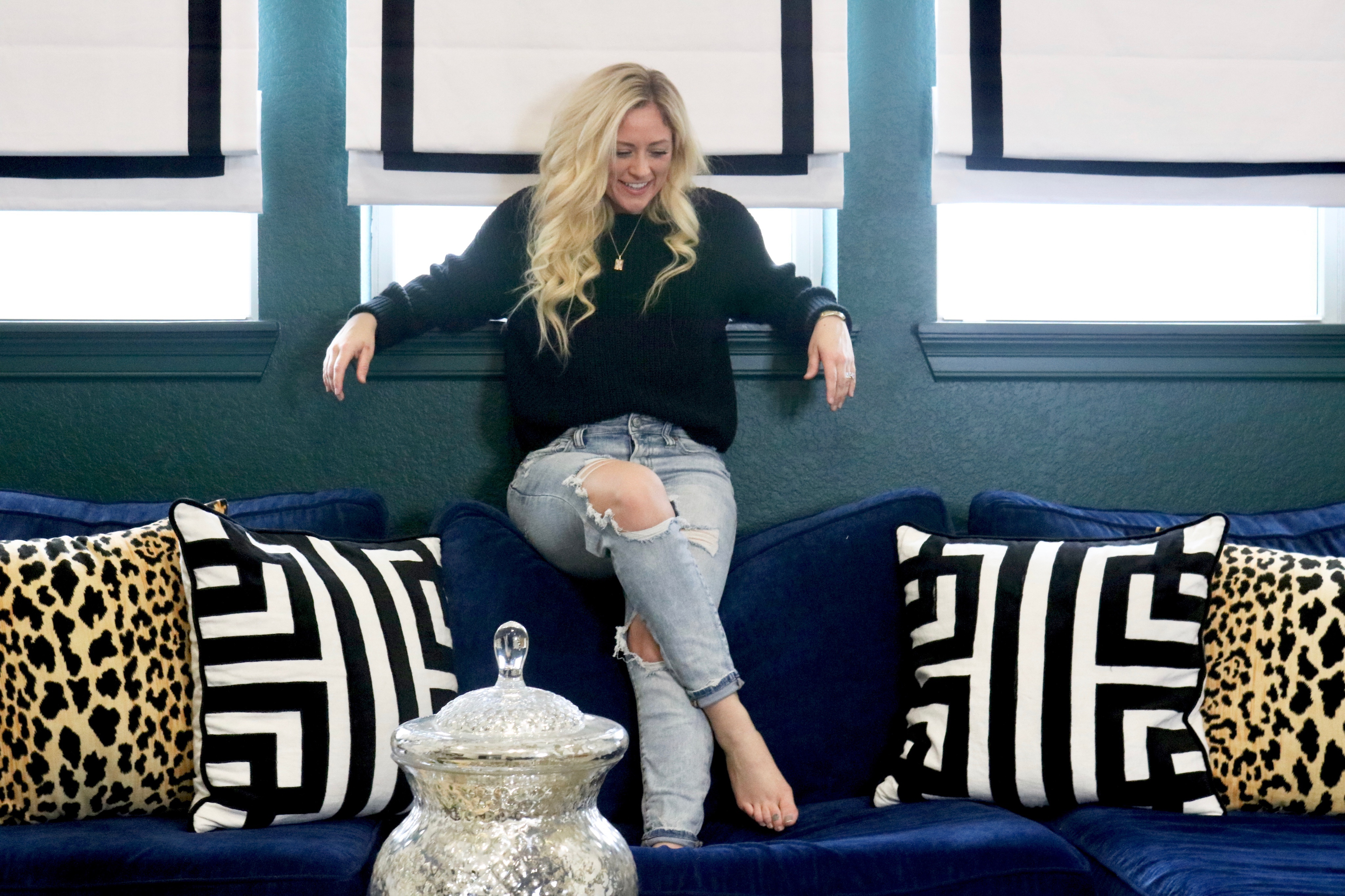 Picture of: Why You Deserve A Navy Blue Sofa Melissa Roberts Interior Design Home Decor Blog