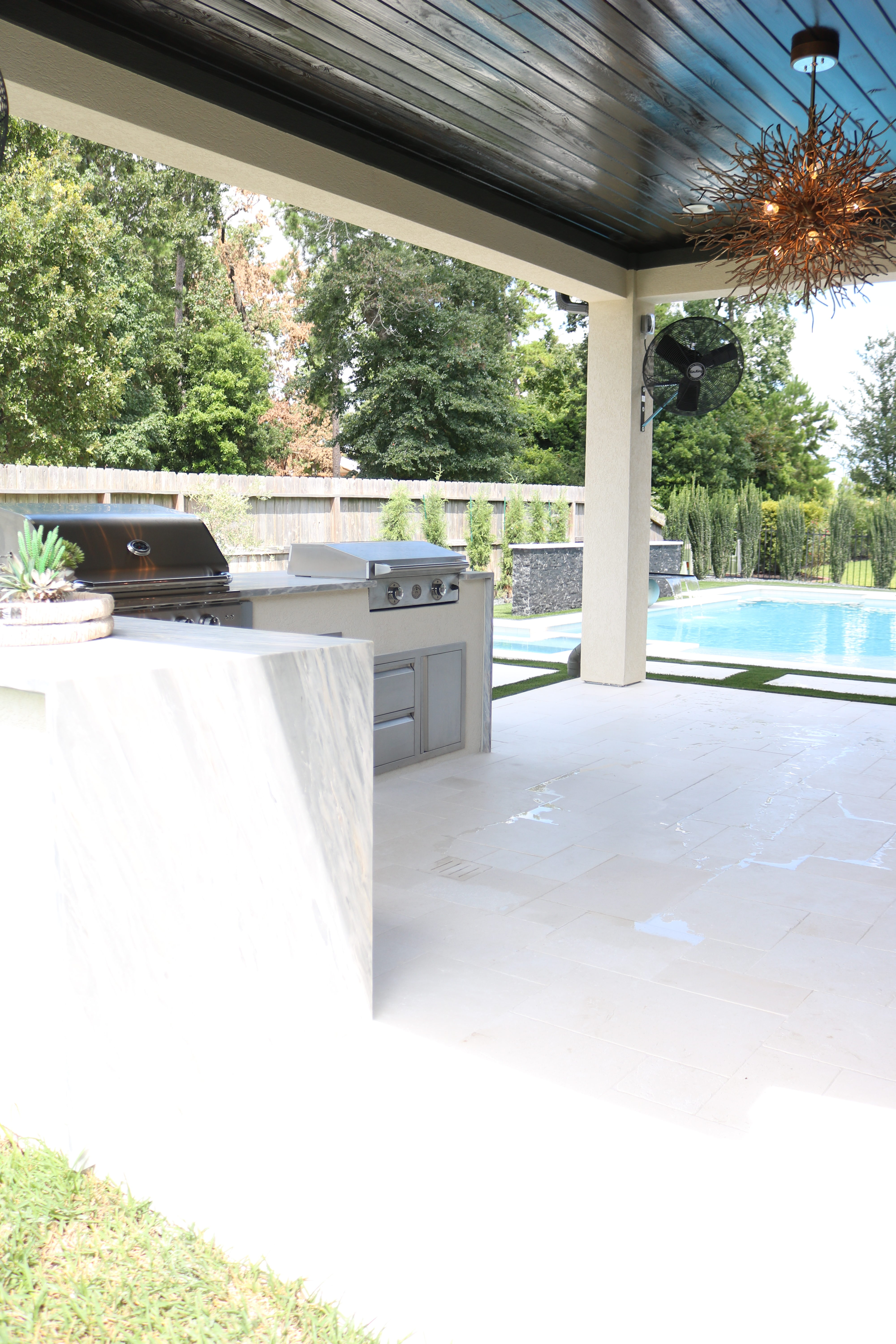 Modern Outdoor Pool and Patio - Melissa Roberts Interior ...