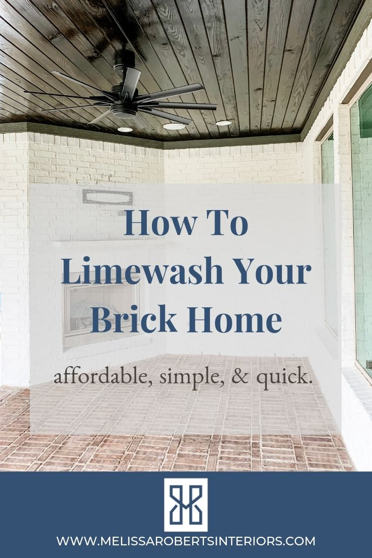 How To Limewash Your Brick Home Melissa Roberts Interior