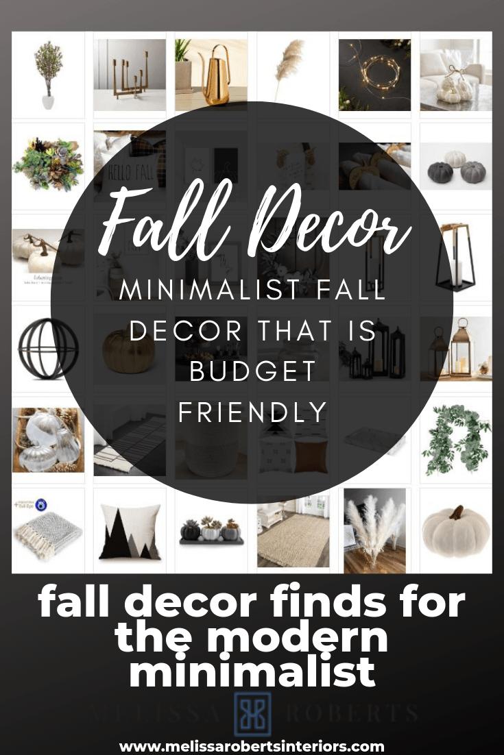 Minimalist Fall Decor Thats Budget Friendly Melissa