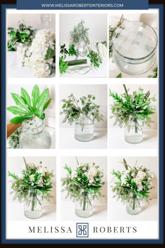 5 Minute Flower Arrangement Step By Step Picture Guide Melissa Roberts Interior Design Home Decor Blog