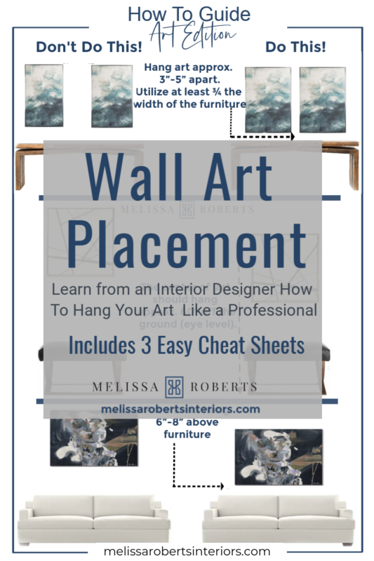 Wall Art Placement 3 Easy Cheat Sheets Melissa Roberts Interior Design Home Decor Blog